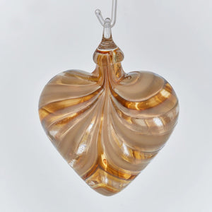 Golden Amber Heart Ornament