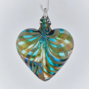 Marina Blue Heart Ornament