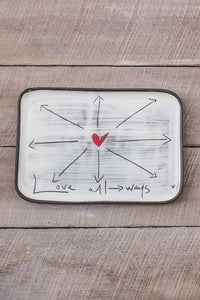 Rectangle Plate Love Always