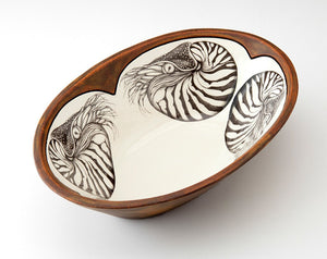 Oval Nautilus Serving Bowl
