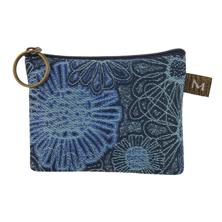 Coin Purse in Blooming Blue
