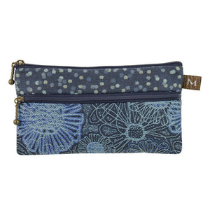 The Heidi Wallet in Blooming Blue