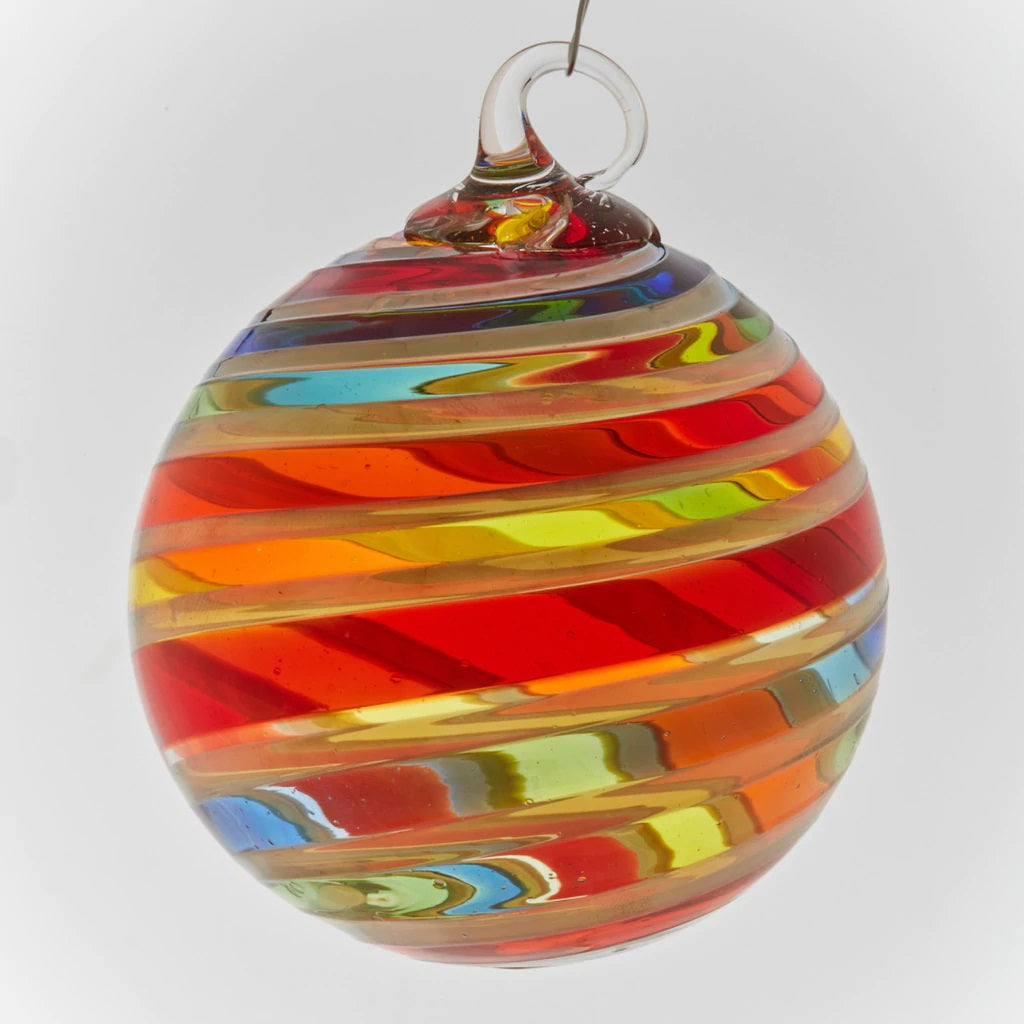 Rainbow Platinum Twist Ornament