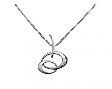 Petite Entwined Elegance Pendant Sterling Silver