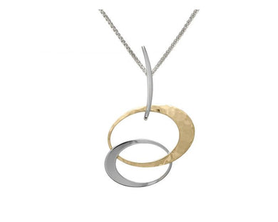 Entwined Elegance Pendant Silver With 14K Gold Overlay
