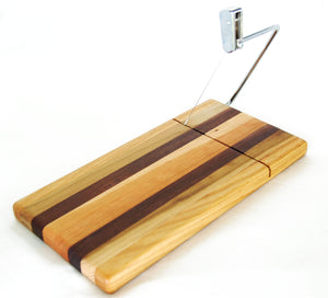 Cutting Board With Built in Wire Cheese Slicer