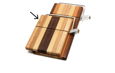 Short Cheese Board With Built in Wire Cheese Slicer
