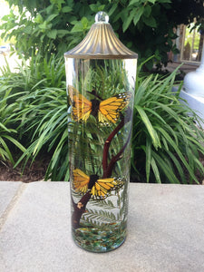 Monarch Butterfly Cylnder Oil Candle