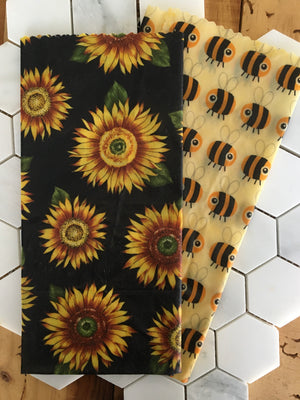 Beeyond Honey 2 Pack Large Beeswax Food Wraps