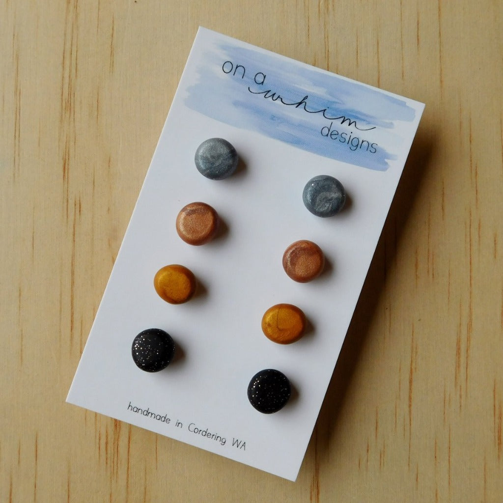 On A Whim Designs Stud Pack Metallic