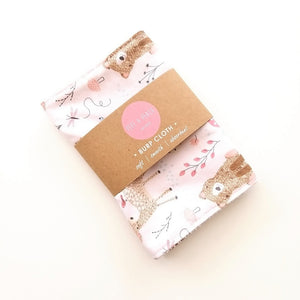 Pepe And Peach Burp Cloth – Pink Woodland