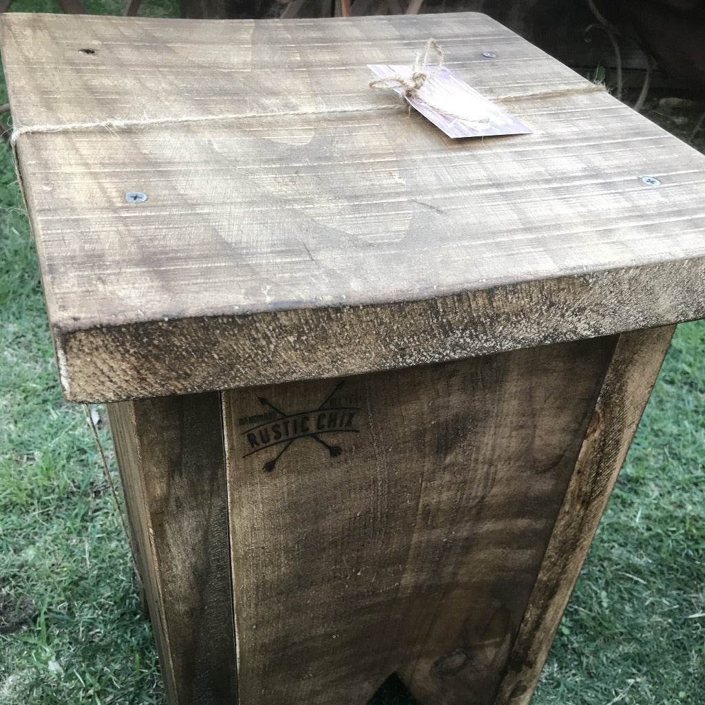Rustic Chix Stool/ Side Table