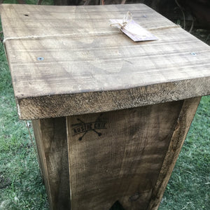 Rustic Chix Stool/ Side Table Recycled Wood