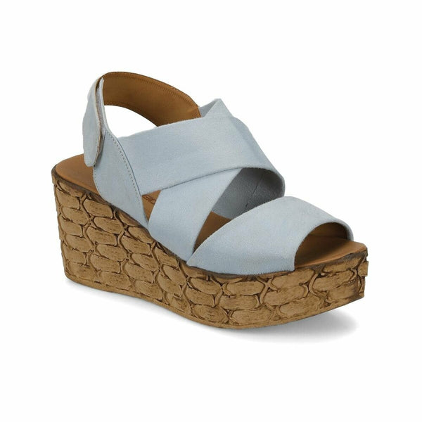 Light Blue Wedge Sandals - Mythical Kitty
