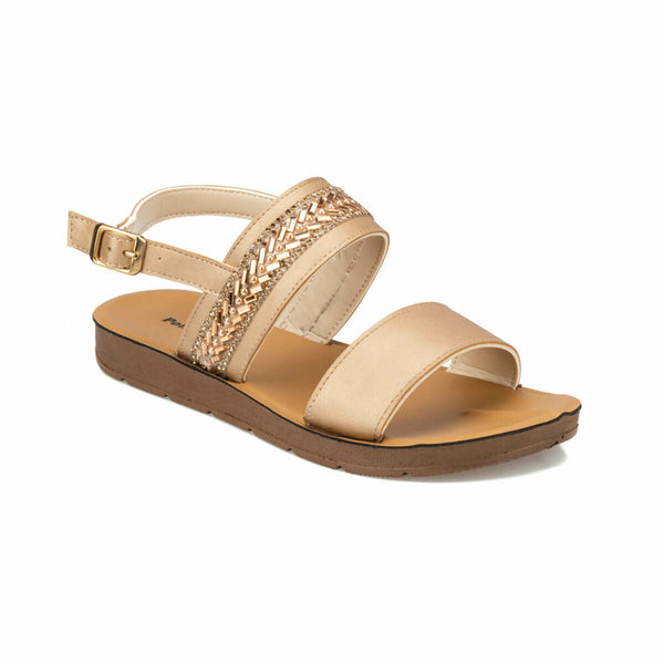 Flat Sandals Bronze Goddess Flat Sandals - Mythical Kitty