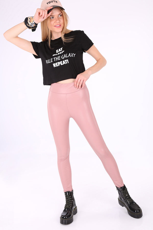 Leather Pants Powder Pink Leather Pants - Mythical Kitty