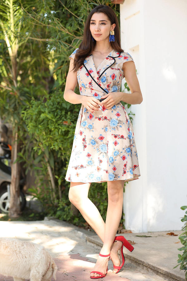 Mini Dresses Millie Floral Dress - Mythical Kitty
