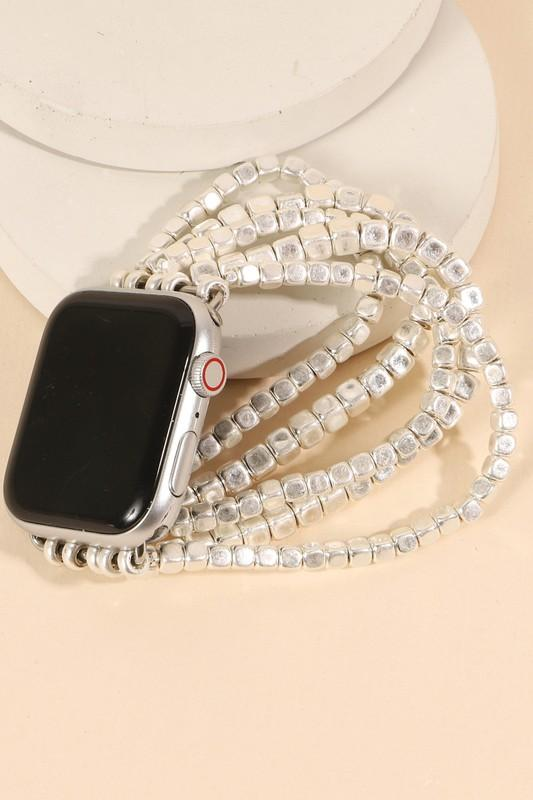 Square Metal Beads Layered Watch Band (38mm-40mm)