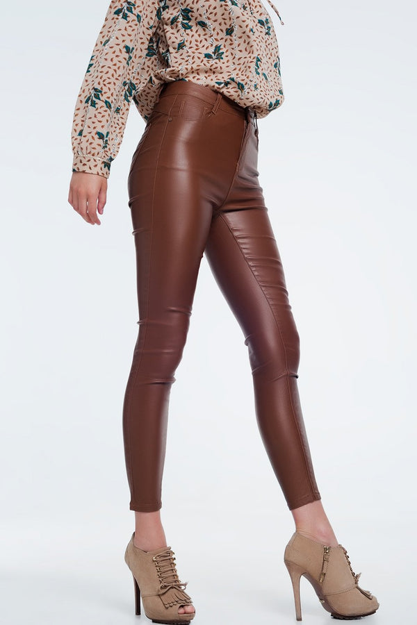 Leather Pants Faux Leather High Waist Pants - Mythical Kitty