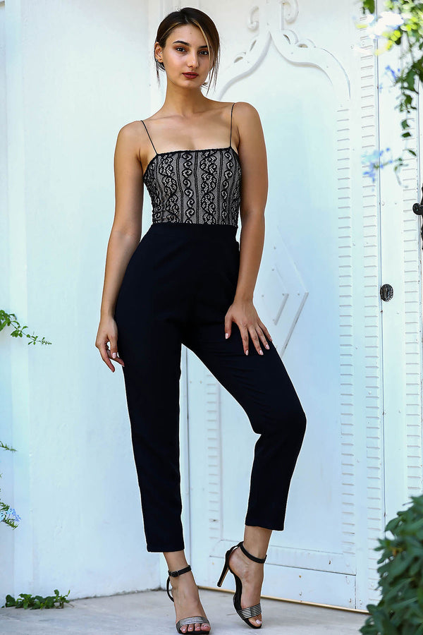 Jumpsuits Amara Lace Top Jumpsuit - Mythical Kitty