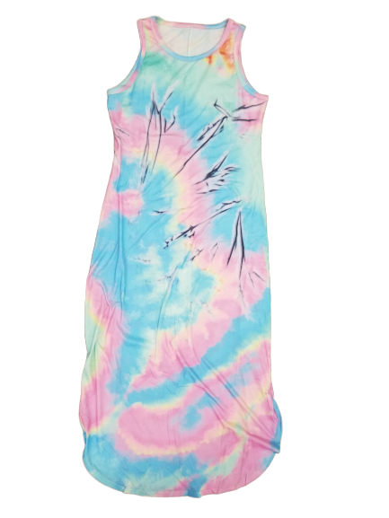 Maxi Dresses Amy Tie Dye Maxi Dress - Mythical Kitty