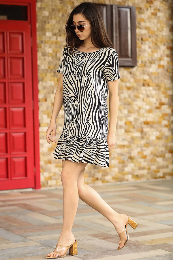 Mini Dresses Zebra Print Mini Dress - Mythical Kitty