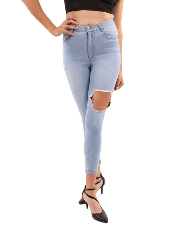 Jeans Tullis Distressed Skinny Jean - Mythical Kitty