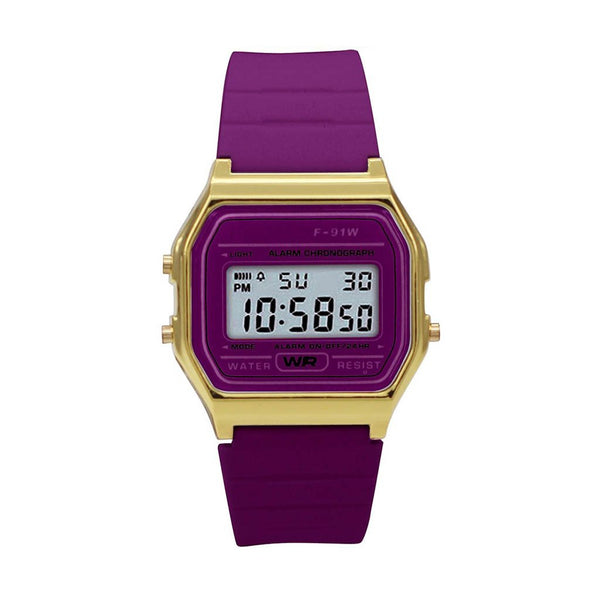 Watches Kivalina Sporty Purple Digital Watch - Mythical Kitty
