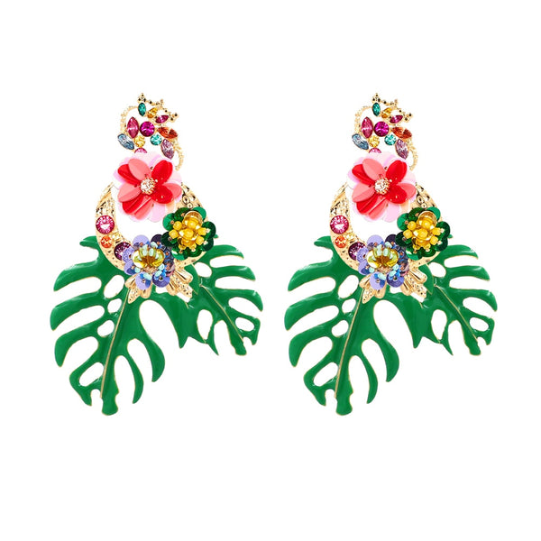 Dangle Earrings Tropicana Statement Earrings - Mythical Kitty