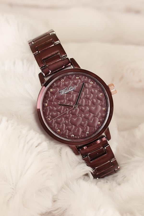 Watches Red Embossed Inner Design Watch - Mythical Kitty