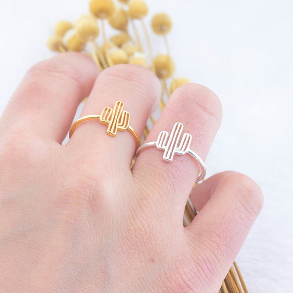 Adjustable Rings Adjustable Cactus Ring - Mythical Kitty