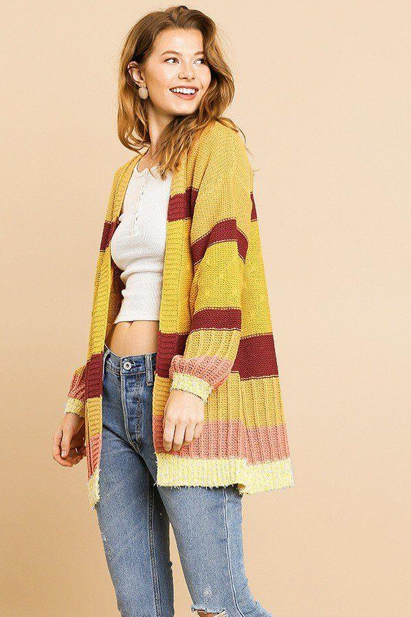 Cardigans Jenna Multicolor Cardigan Sweater - Mythical Kitty