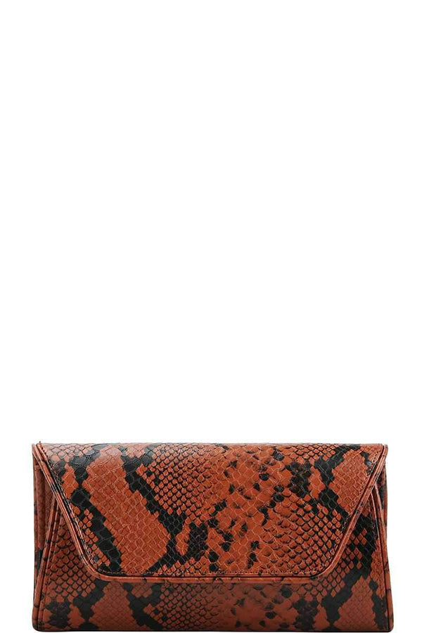 Python Pattern Clutch + Crossbody Bag - Mythical Kitty