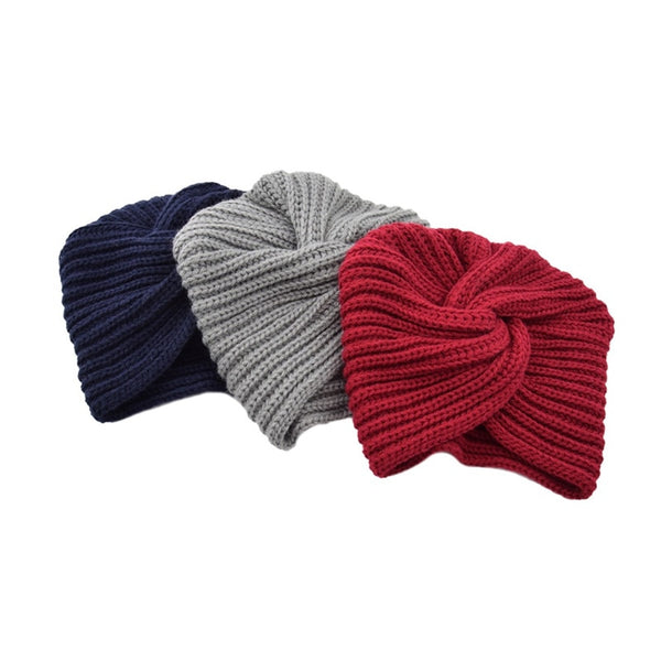 Knitted Hats Knitted Wool Turban - Mythical Kitty
