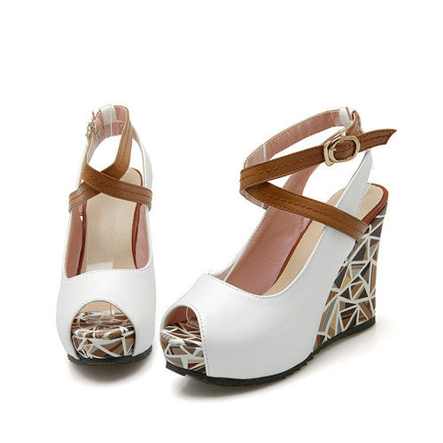 Wedge Sandals, Sandy Wedge Sandals - Mythical Kitty