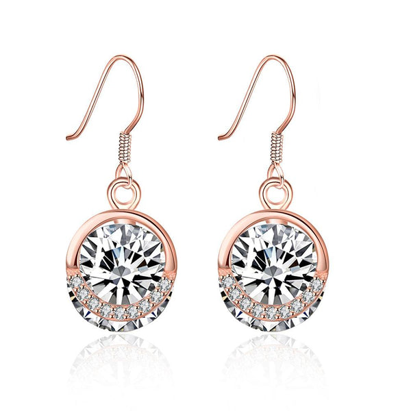 Earring Sterling Silver Solitaire Swarovski Drop Earrings - Mythical Kitty
