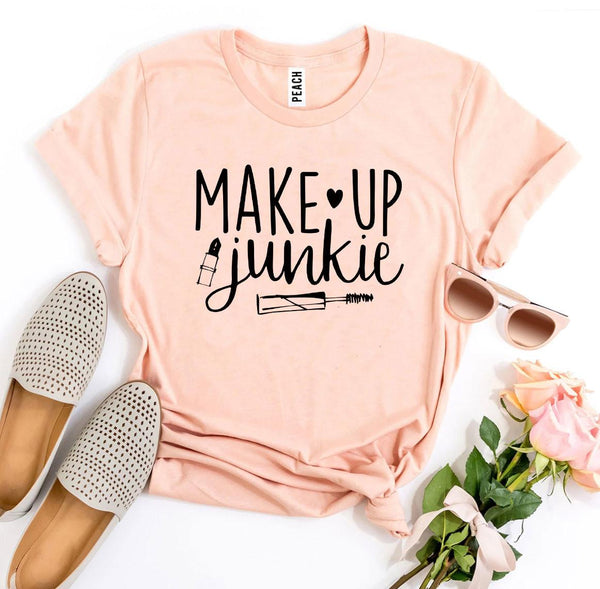 Graphic T-shirts Make Up Junkie T-shirt - Mythical Kitty