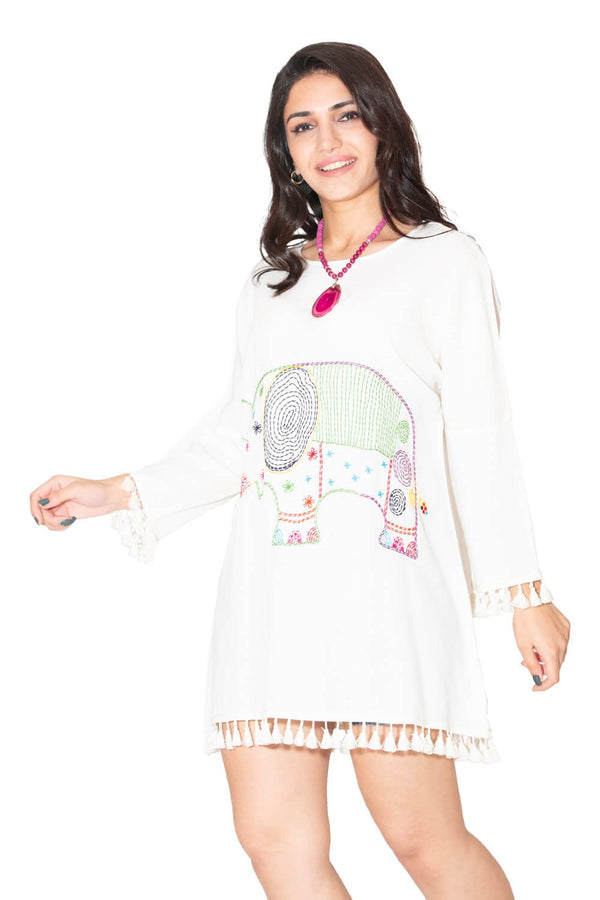 Tunic Dresses Boho Fringe Tunic - Mythical Kitty