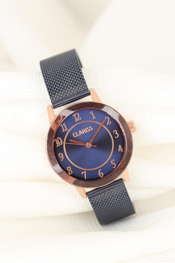 Watches Navy Blue Mesh Watch - Mythical Kitty