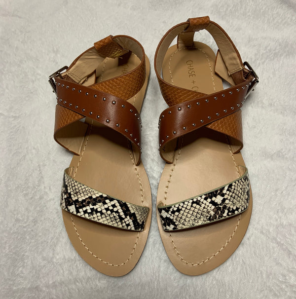 Flat Sandals Snakeskin Flat Sandals - Mythical Kitty