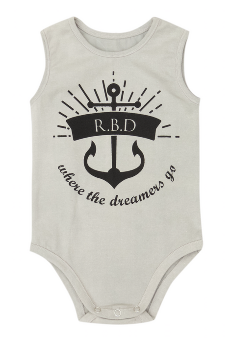 Ted Romper - Grey with Anchor