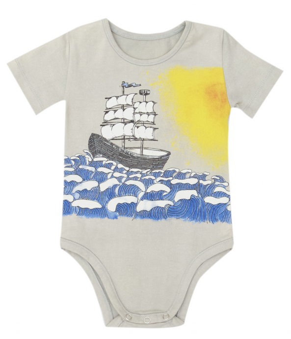Jimmy Romper - Grey Coloured Ship