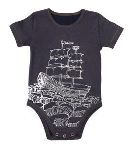 Jimmy Romper - Navy Ship Outline