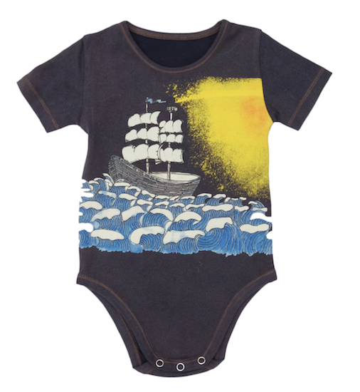 Jimmy Romper - Navy Coloured Ship