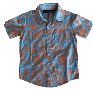 Henry Shirt - Prawn Cracker Turquoise