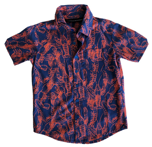 Henry Shirt - Prawn Cracker Navy