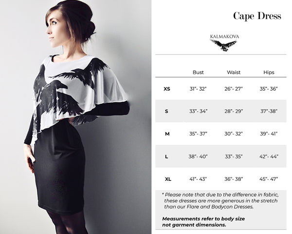 Cape Dress Size Guide
