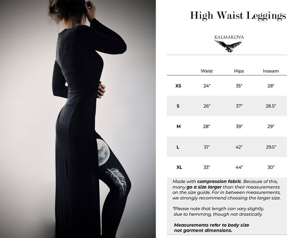 High Waist Leggings Size Guide