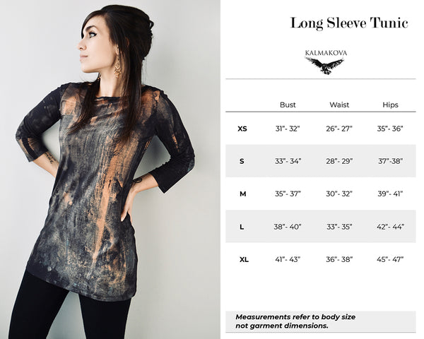Long Sleeve Tunic Size Guide
