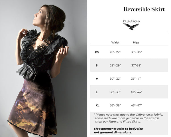 Reversible Skirt Size Guide
